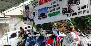 Doorprize Pemilihan Calon Kades Berupa Mobil, 3 Tiket Umroh dan 5 Motor