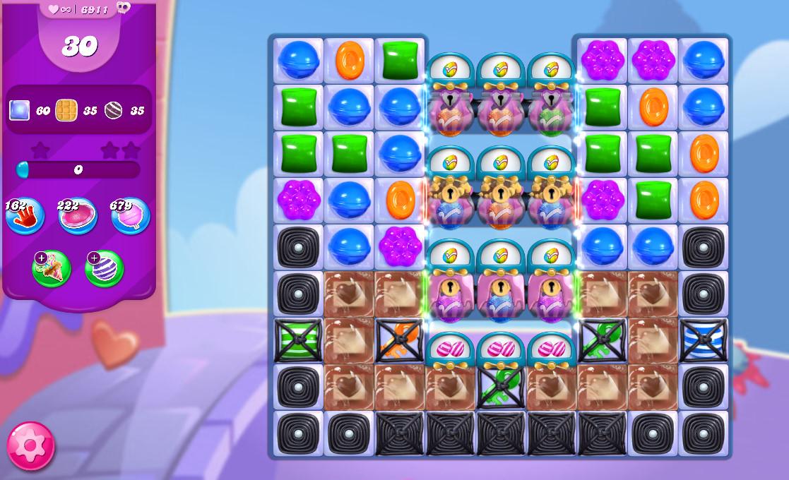Candy Crush Saga level 6911