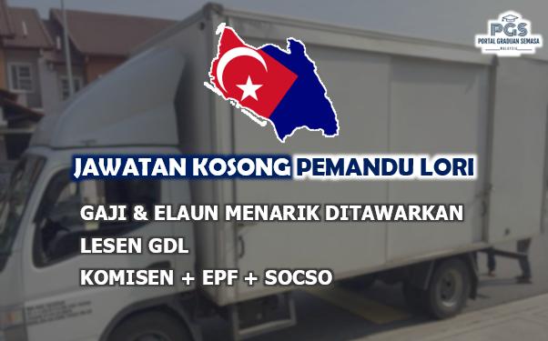 Jawatan Kosong Pemandu Lori Sekitar Johor | Pengambilan Rasmi!