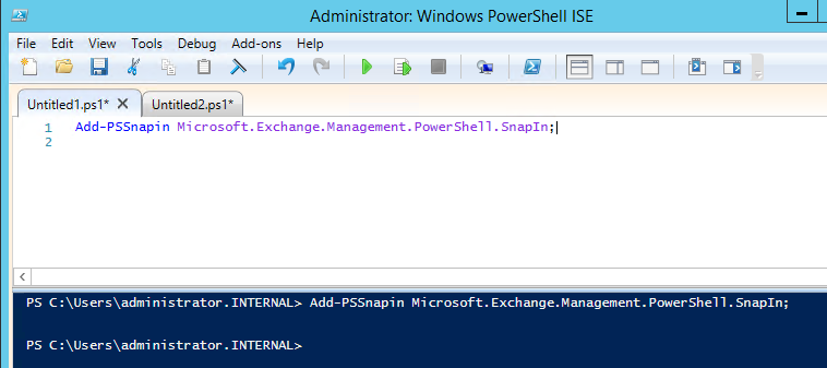 how to create a powershell script