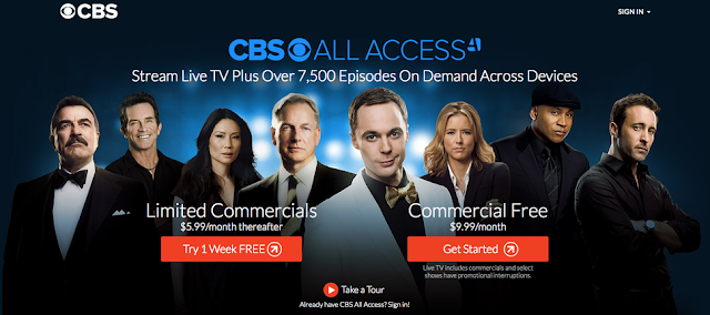 CBS All Access Login and Password