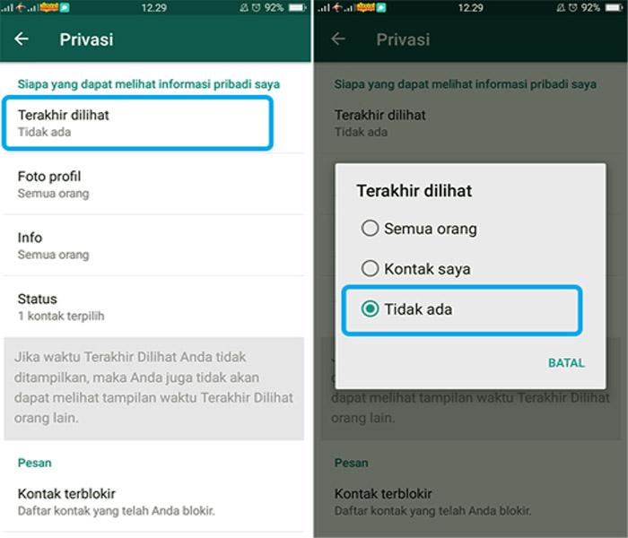 Cara Menghilangkan Status Online Di Whatsapp Android Technoecho