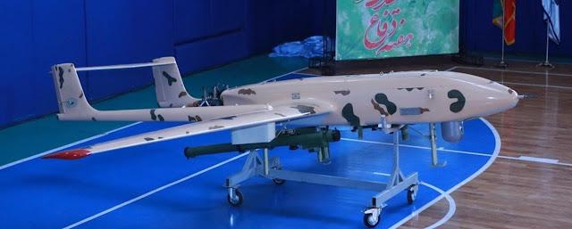 الطائرة بلا طيار الايرانية الدرون UAV  Iranian Drones   مهاجر-4 / Mohajer-4 Mohajer-4B sadiq