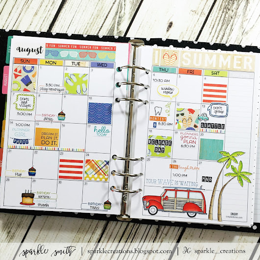 TE Clearly Planned Release Day! and Planner Stamping: August 2016 Monthly