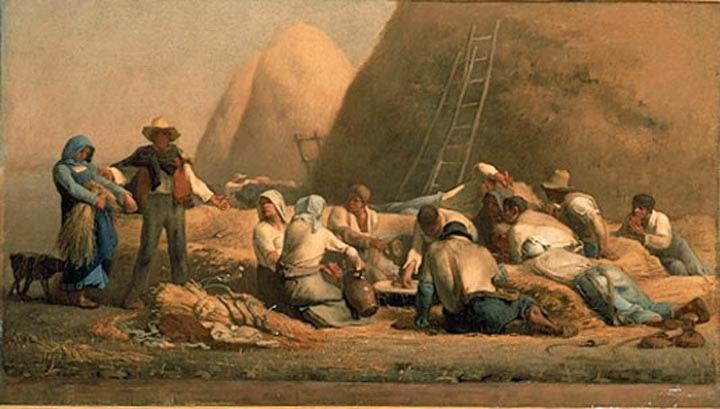Ceifeiros Descansando - Millet, Jean-Francois e suas principais pinturas | Realismo