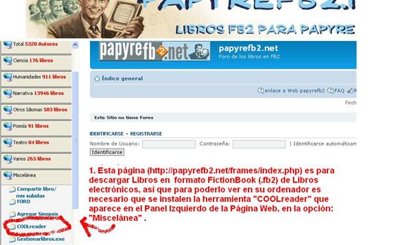 Manual de Informática: Descarga de libros electrónicos fb2