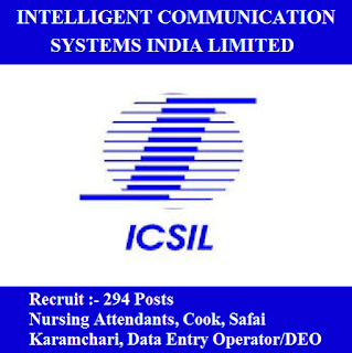 Intelligent Communication Systems India Limited, ICSIL, New Delhi, 10th, Cook, Nursing, Safai Karamchari, Data Entry Operator, DEO, freejobalert, Sarkari Naukri, Latest Jobs, icsil logo