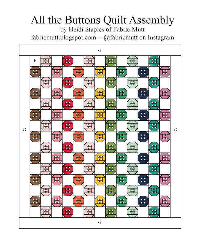 All the Buttons Quilt Free Tutorial by Heidi Staples of Fabric Mutt