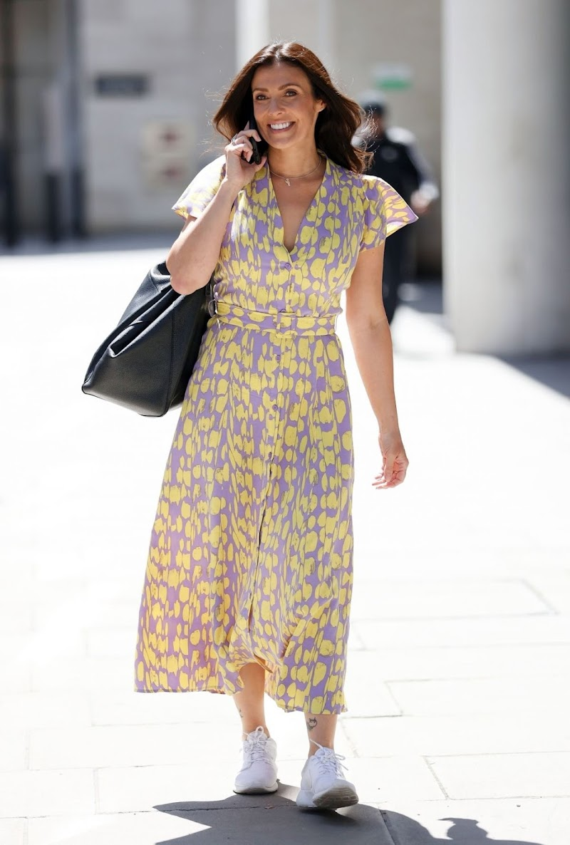 Kym Marsh Spotted While Leaving  BBC Studios in London 22 Jun -2020
