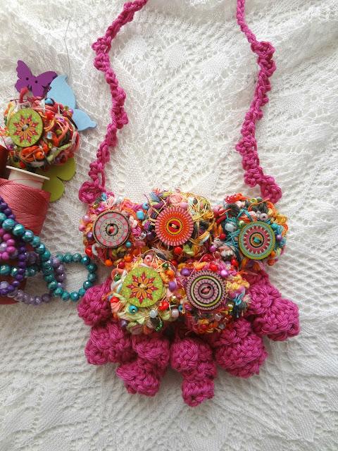 Make Yarn Tails into Art Beads