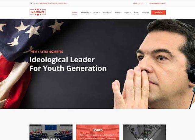 Nomiee Best Political WordPress Themes 2020