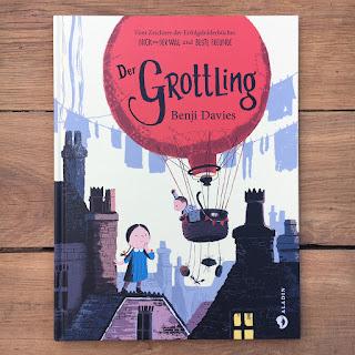 """Bilderbuch """"Der Grottling"""" von Benji Davies, erschienen im Aladin Verlag, Rezension auf Kinderbuchblog Familienbücherei"""