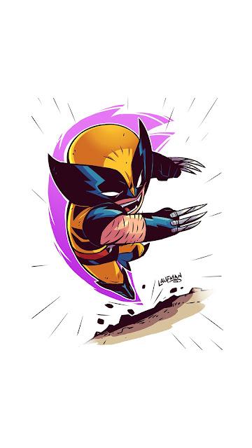 Papel de Parede Minimalismo Wolverine, hd, 4k.