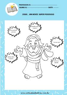 Atividade ilustração jesus herói