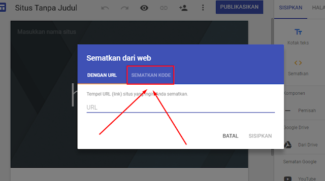 Gambar Cara Memasang Unit Adsense hosted di google sites