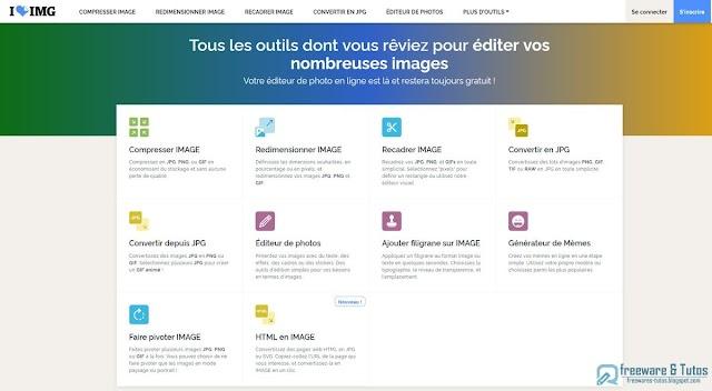 iLoveIMG  : un outil en ligne pour éditer facilement ses images