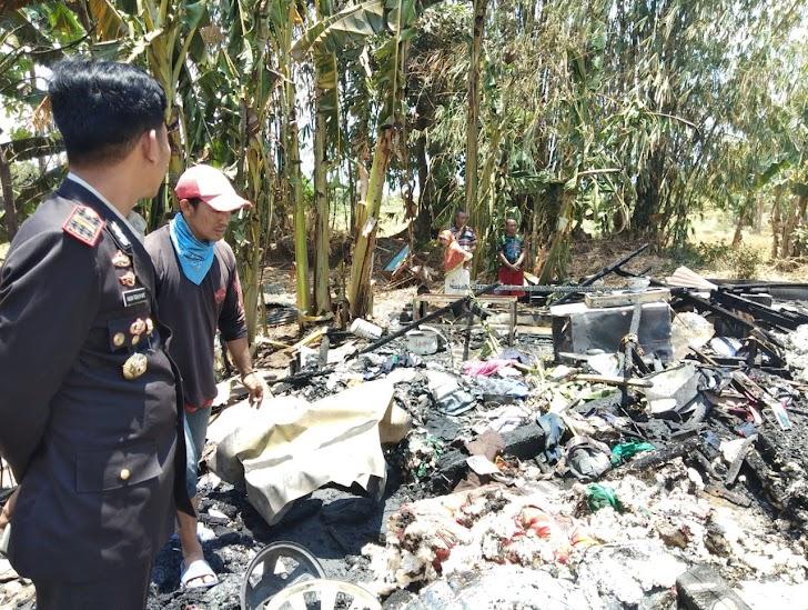 Kapolsek Bajeng, Tinjau Langsung Kebakaran  Di Lingkungan Sappaya