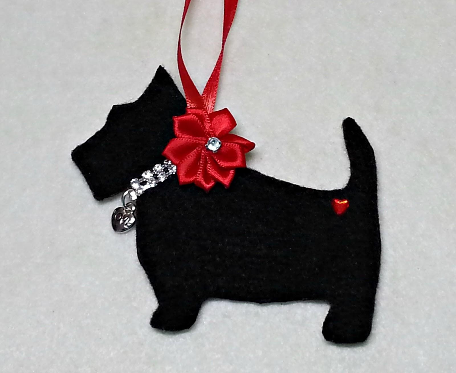 diymake an adorable scottie dog christmas ornament free pattern too - Scottie Dog Christmas Decorations