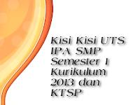 Kisi Kisi UTS IPA SMP Semester 1 Kurikulum 2013 dan KTSP