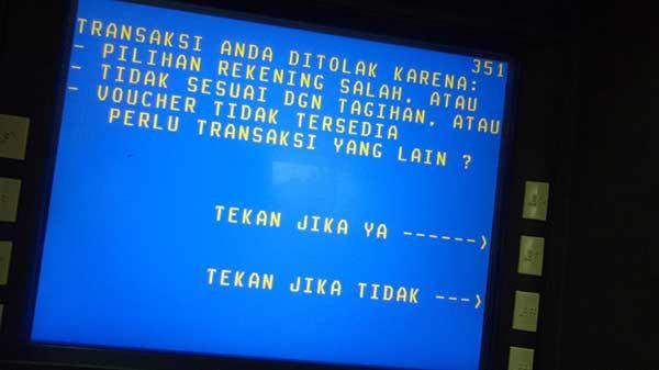 Penyebab Transaksi Ditolak Mesin ATM BNI