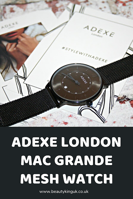 Adexe London Mac Grande Mesh Watch