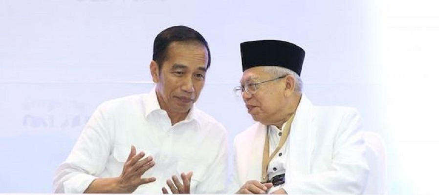 Jokowi and Maruf Amin discuss the discourse of a cabinet reshuffle