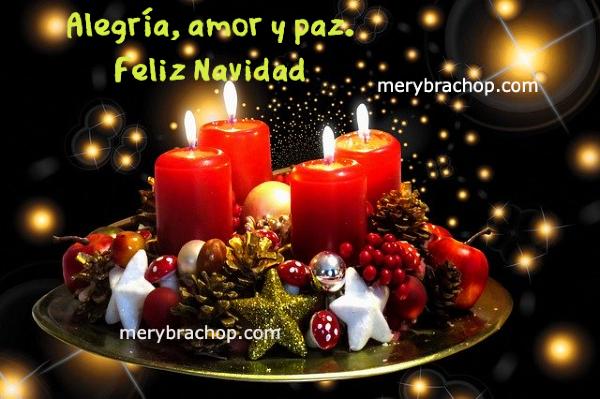 imagen con velas y adorno navideño feliz navidad frases bonitas de amor y paz