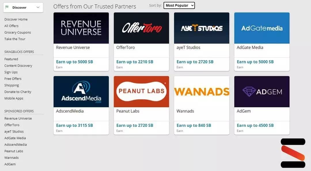 عروض SwagBuck للربح من التسوق عبر الانترنت