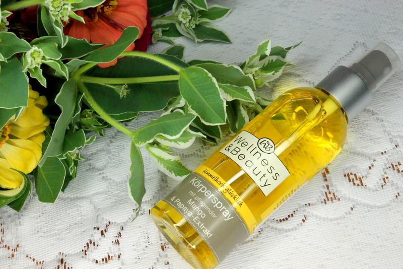 Wellness and Beauty spray do ciała z pielęgnującym olejem z pestek mango i ekstraktem z papai