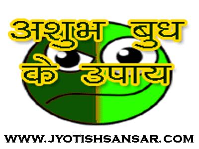 kharab budh ke upay jyotish me