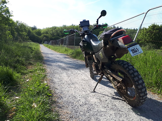 Mercenary Garage Black-Ops Stealth KLR 250 Zombie Bug-out Bike