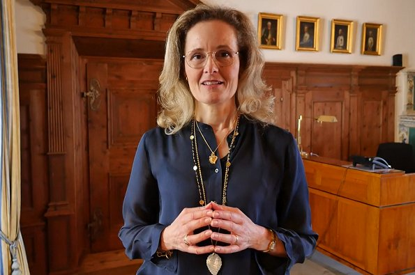 Hereditary Princess Sophie of Liechtenstein relased a video thanking message for the volunteers. coronavirus pandemic