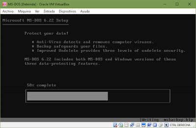 Instalación de MS-DOS