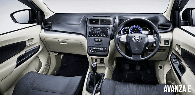 Interior Toyota Avanza Tipe E