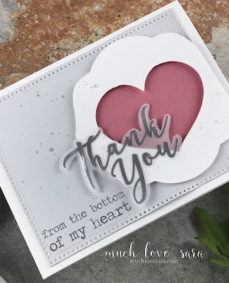 Sweet, pretty, and simple to recreate.  This Thank you Handmade card, features Fun Stampers Journey Heart-Felt and Treat Label Dies, along with the Many Thanks ATS stamp set.