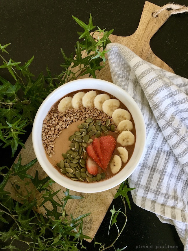 Chocolate Smoothie Bowl - Round 2 at Pieced Pastimes