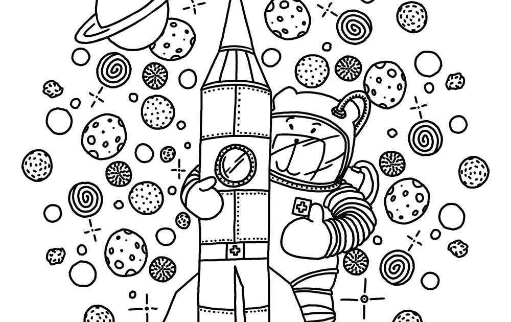 Astronaut Ausmalbild 1 Malvorlage