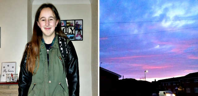 my teenage daughter and the sun rising