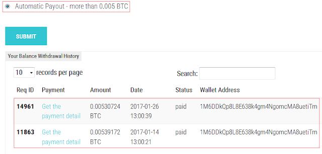 Bukti pembayaran dari Bitsrapid
