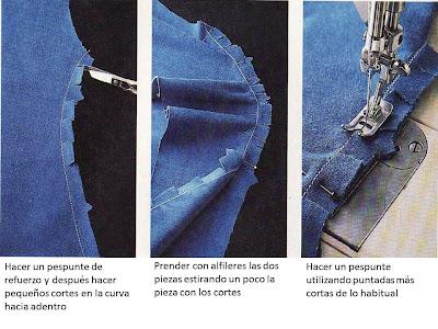 la costura curva