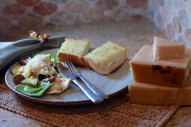 Parmesan Ravioli and Veggies, easy quick dinner recipe