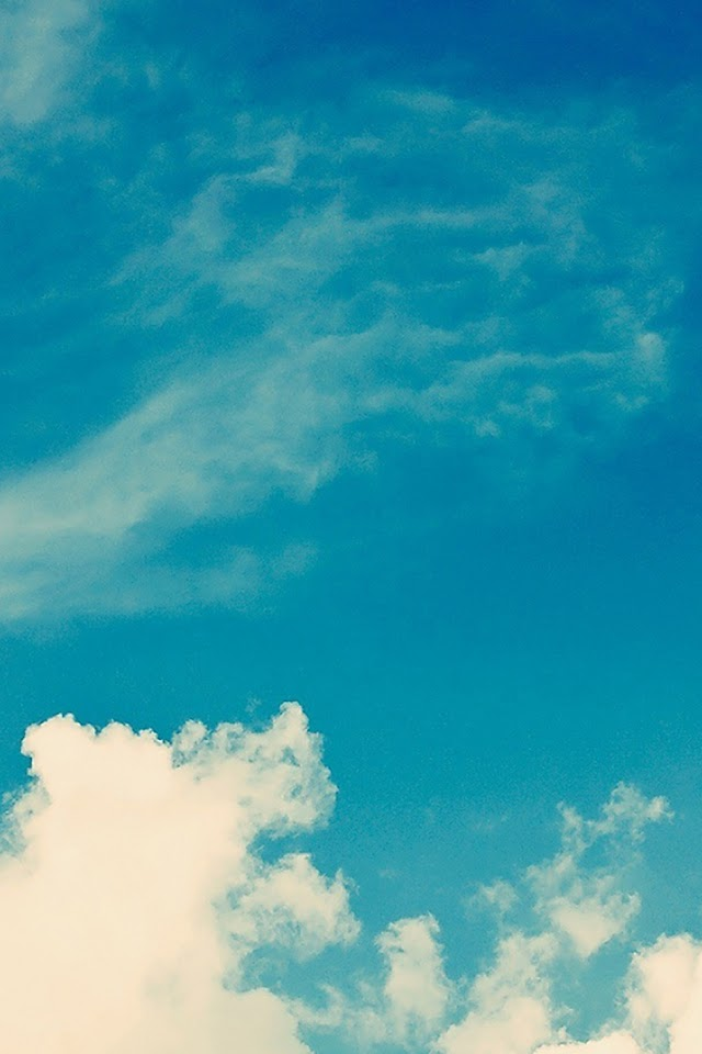 Galaxy Note HD Wallpapers: iOS 8 Blue Sky Clouds Galaxy Note HD Wallpaper