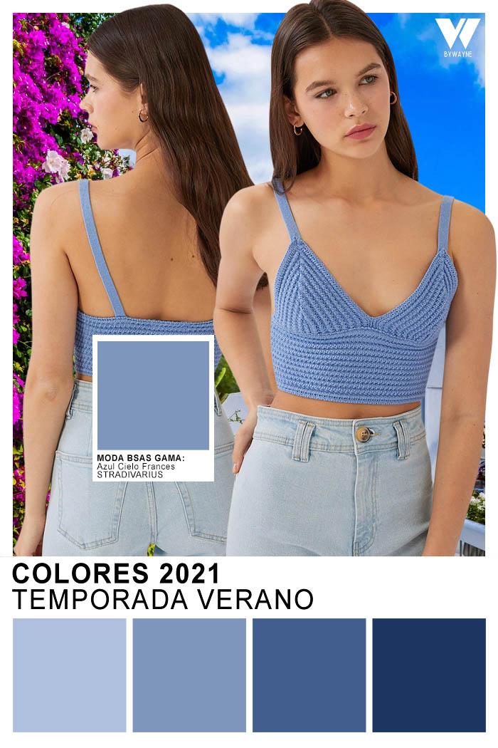 Colores 2021 Moda colores primavera verano Azul Cielo Frances