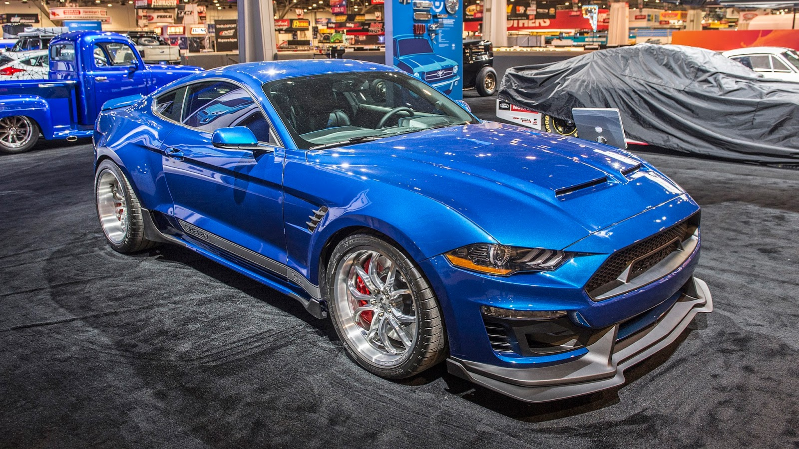 Ford mustang shelby gt500 super snake widebody sema 2017