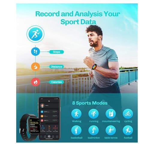 GJT Calls Message Fitness Tracker Smart Watch