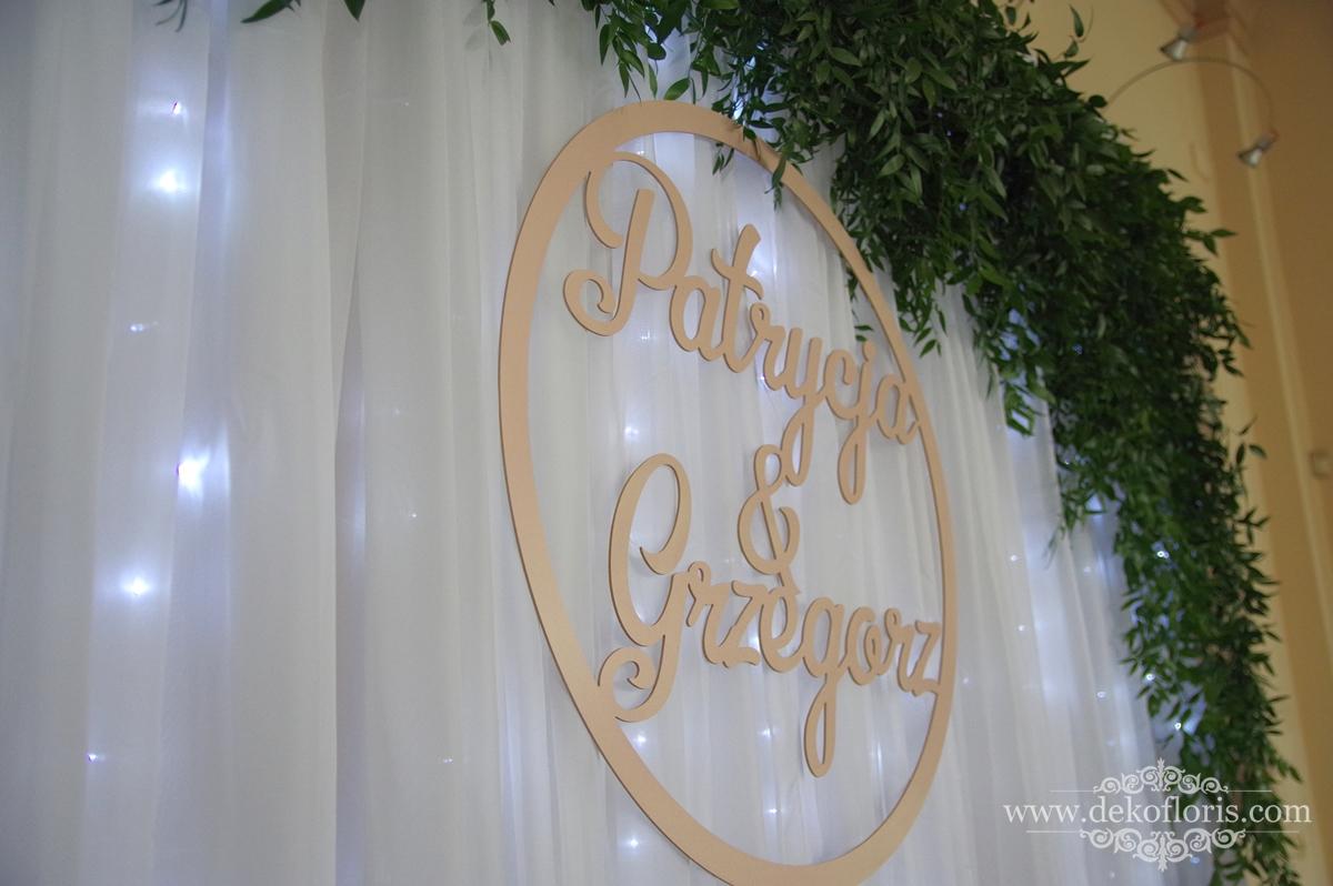 Ścianka LED dekorowana zielenią Salomon Opole