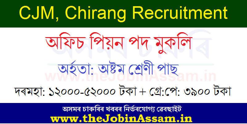 CJM, Chirang Recruitment