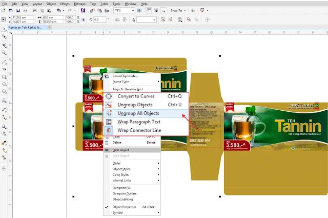 Kemasan Teh CDR : Cara Membuat Template Desain Kemasan Teh ...