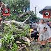 Kapolsek Polsel,  Pimpin Personil Mengevakuasi Pohon Tumbang di Jalan Poros Takalar - Je'neponto