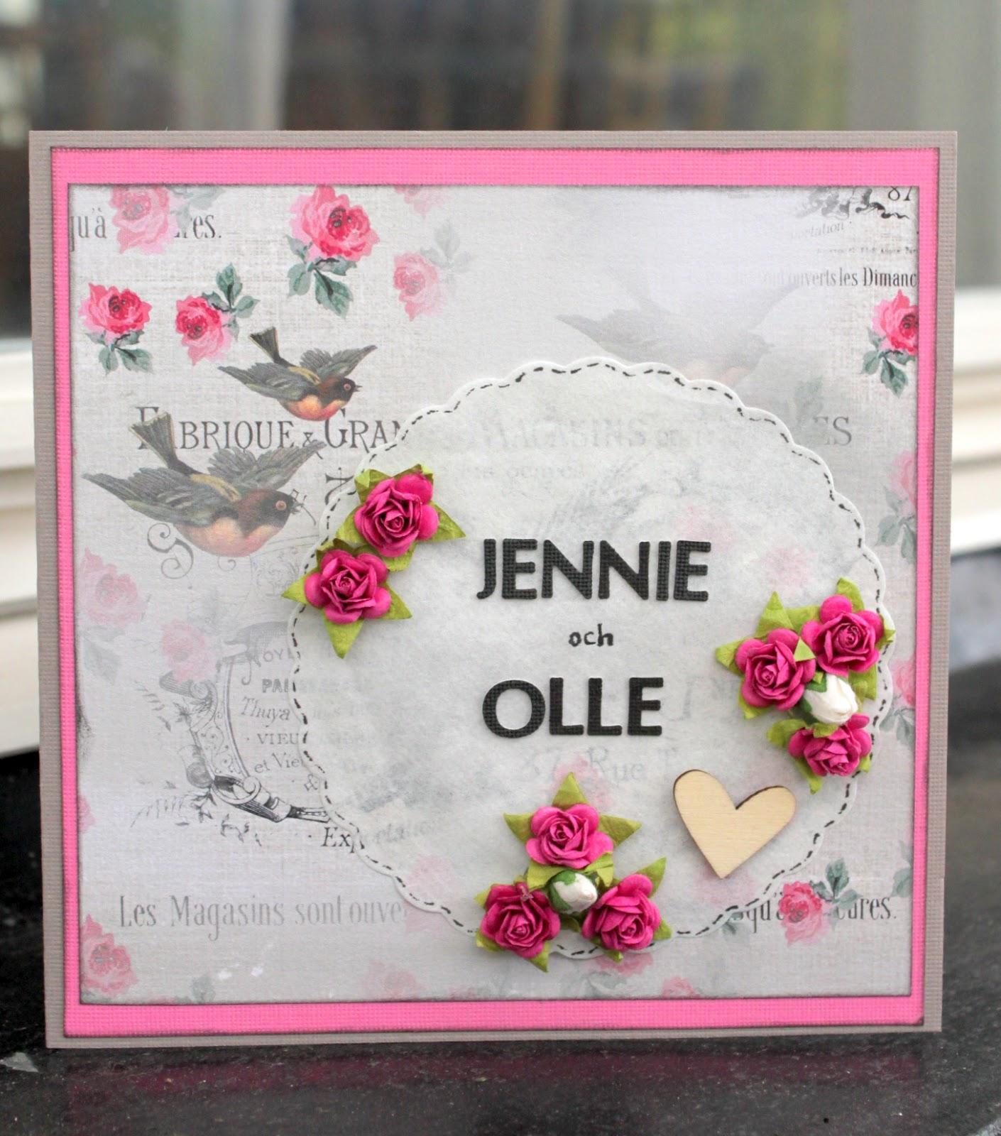 grattis bröllopskort hemma hos ulrika: Bröllopskort   grattis till Jennie och Olle grattis bröllopskort